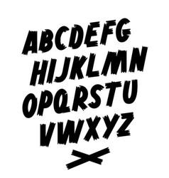 brush font hand lettering editable alphabet vector image