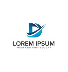 cative modern letter d logo design concept vector image