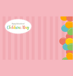 Collection childrens day cute background vector