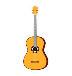 Colorful cartoon acoustic guitar vector