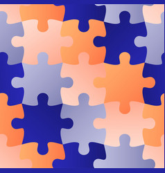 Colorful jigsaw seamless puzzle pattern autism vector