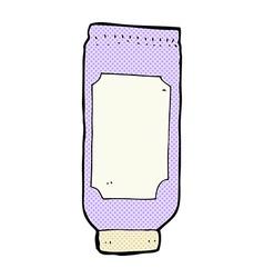 Comic cartoon lotion vector
