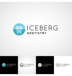 Creative dental logo template Teethcare icon set vector