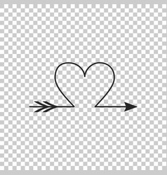 cupid arrow heart valentines day cards icon vector image
