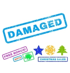 Damaged Rubber Stamp vector