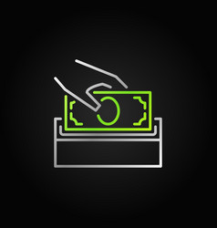 Donate money bright icon silver donation vector