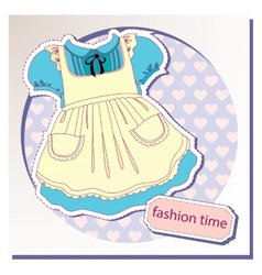 Dress for girls vector image