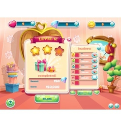 Example of the user interface of a computer game vector