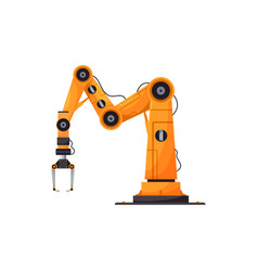 Factory automation isolated robotic arm device vector