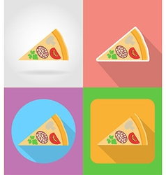 Fast food flat icons 12 vector