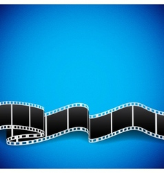 Film reel background vector