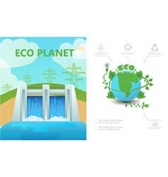 flat ecology composition vector image