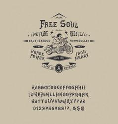 font free soul vector image