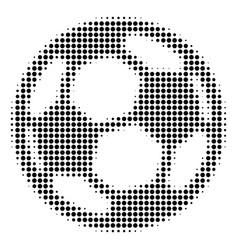 Football ball halftone icon vector
