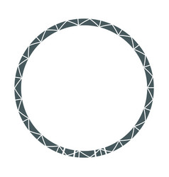 frame round decoration geometric desing image vector image