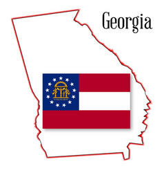 Georgia state map and seal vector