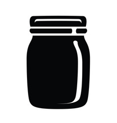 glass jar for jam or honey icon simple style vector image