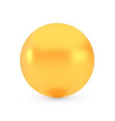 golden sphere award concept shiny realistic vector image