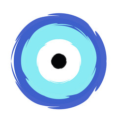 Greek blue evil eye - symbol of protection vector