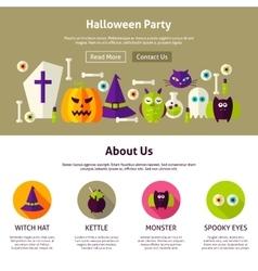 Halloween Party Web Design Template vector