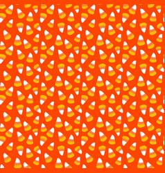 Halloween repeat pattern candy corn toss vector