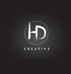 Hd brush letter logo design artistic handwritten vector
