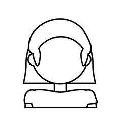 head woman female outline vector image
