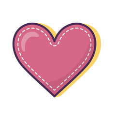 heart love romantic icon on white background vector image