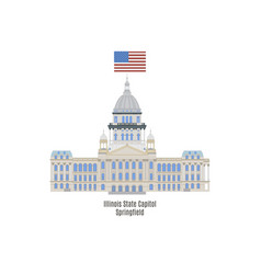 Illinois state capitol vector