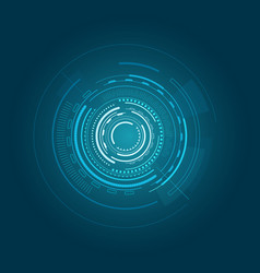 interface poster of blue color vector image