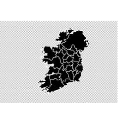 Ireland map - high detailed black map vector