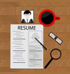 Job hunting vector