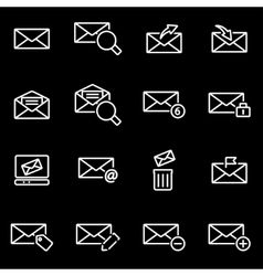 line email icon set vector image