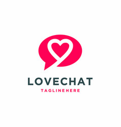 Love and chat logo dating app logo icon il vector