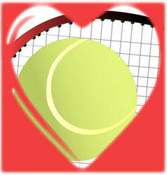 love tennis vector image