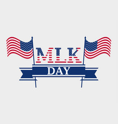 martin luther king day holiday background vector image