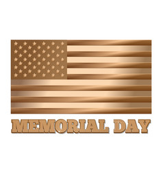 memorial day gold united states of america flag vector image