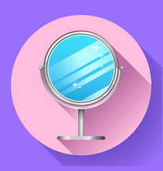Mirror for make up vector