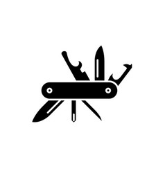 multipurpose knife black icon sign on vector image