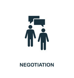 Negotiation icon creative element from business vector