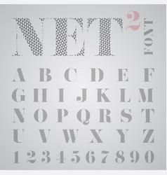 net alphabet vector image