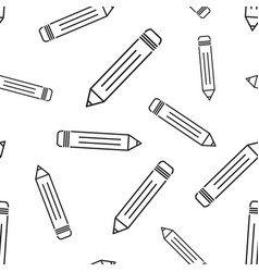 pencil seamless pattern background business flat vector image