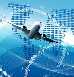 Plane background vector