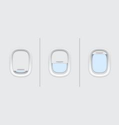plane or airplane windows realistic mockup vector image