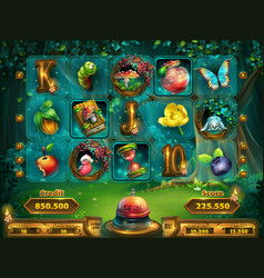 playing field slots game for game user interface vector image