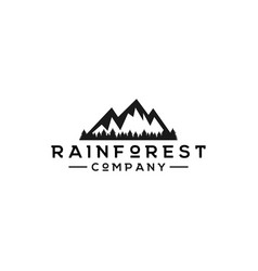 rainforest logo graphic design template vector image