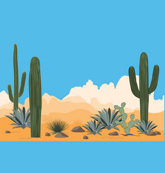 Scenery of the arid desert vector