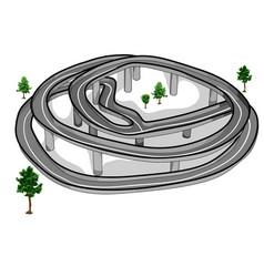 Scenic road vector