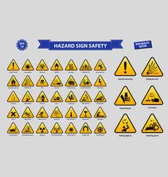 Set hazard sign safety vector