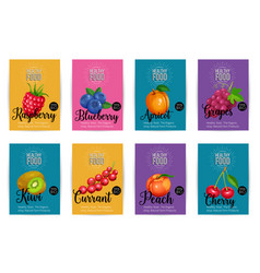 set of banners with fruits vector image